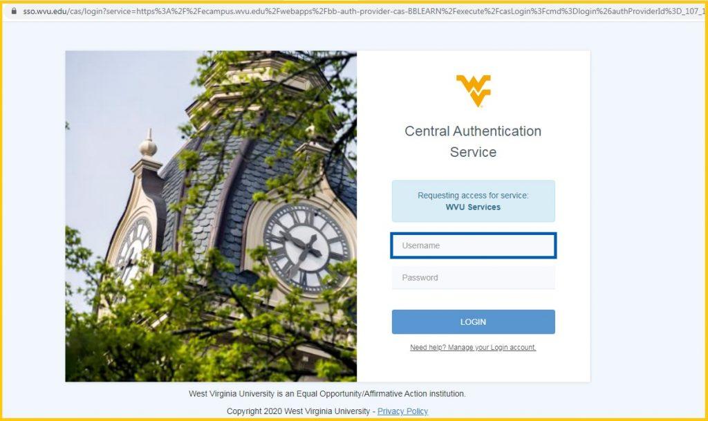 WVU eCampus login
