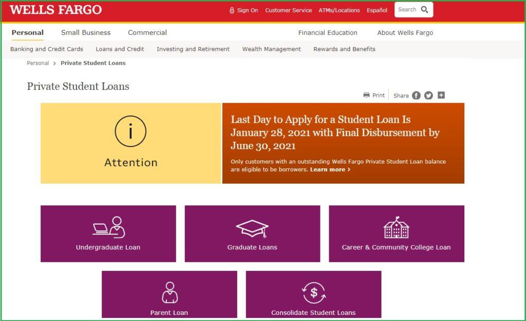 Wells Fargo Student Loan